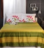 Raymond Home Greens Geometric Patterns Cotton King Size Bed Sheets - Set of 3