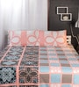 Greens Geometric Patterns Cotton Queen Size Bed Sheets - Set of 3 by Raymond Home