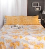Raymond Home Yellows Cotton Queen Size Bed Sheet - Set of 3