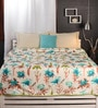Greens Nature & Florals Cotton Queen Size Dohar by Raymond Home