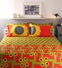 Multicolour Cotton King Size Bed sheet - Set of 5 by Raymond Home