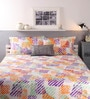 Multicolour Cotton Queen Size Bed Sheet - Set of 3 by Raymond Home
