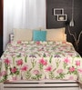 Pinks Nature & Florals Cotton Queen Size Dohar by Raymond Home