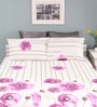 Purple Cotton Queen Size Silverleaf Bed Sheet with 2 Pillow Covers by Raymond Home