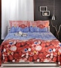 Raymond Home Purples Abstract Patterns Cotton King Size Bed Sheets - Set of 3