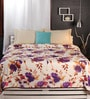 Raymond Home Purples Nature & Florals Cotton Queen Size Dohar