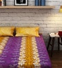 Raymond Home Yellow Cotton Queen Size Bedsheet - Set of 3