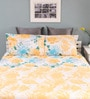 Yellow Cotton Queen Size Silverleaf Bed Sheet with 2 Pillow Covers by Raymond Home