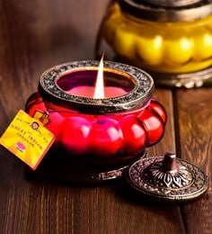 Red Desi Cutting Chai Scented Candle