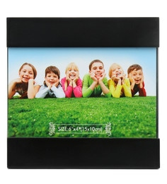 Regular Black Bands Mdf Photo Frame By @Home - 1642042