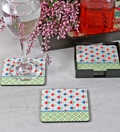 Reinvention Factory Lotus Wooden Coasters, Set Of 6