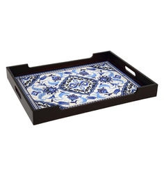 Reinvention Factory Multicolour Mdf Wooden Tray With Matt Finish - 1662830
