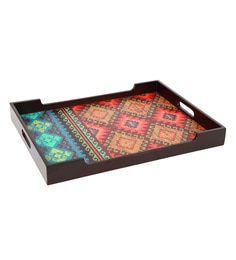 Reinvention Factory Multicolour Mdf Wooden Tray With Matt Finish - 1662828