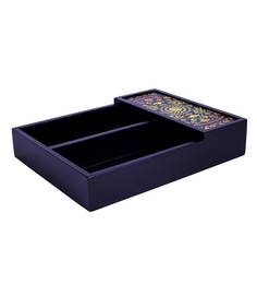 Reinvention Factory Multicolour Medallion Design Wooden Cutlery Tray