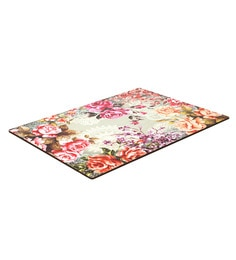 Reinvention Factory Multicolour Wooden Placemats With Floral Design - Set Of 6