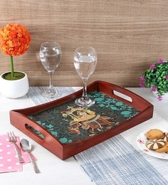 Reinvention Factory Raja Rani Wooden Medium Tray