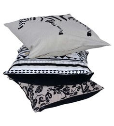 Reme Multicolour Cotton 18 X 18 Inch Ari Work Cushion Covers - Set Of 3 - 1593095