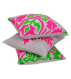 Reme Multicolour Cotton 18 X 18 Inch Ari Work Cushion Covers - Set Of 3 - 1593098