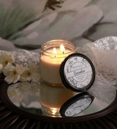 Resonance Candles Cucumber Fragrance Natural Wax Aroma Candle With Double Wicks