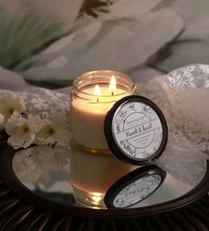 Resonance Candles Neroli & Basil Fragrance Natural Wax Aroma Candle With Double Wicks
