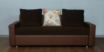 Relish Sofa Cum Bed In Coffee Brown Colour