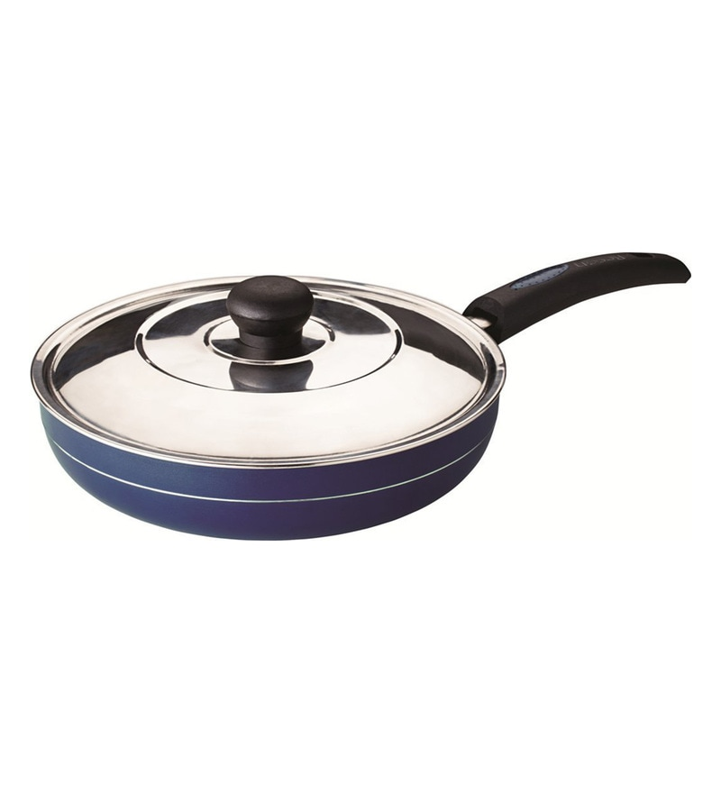 Masterchef Non Stick Aluminium Fry Pan with Steel Lid by Recon