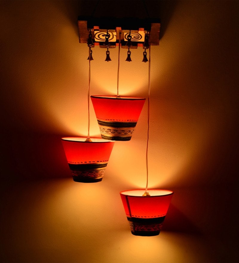Red Cotton Chandelier by ExclusiveLane