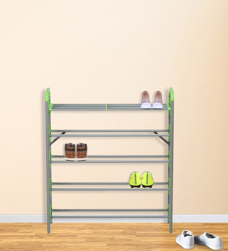 Redley Iron Shoe Rack in Green Colour by Nilkamal