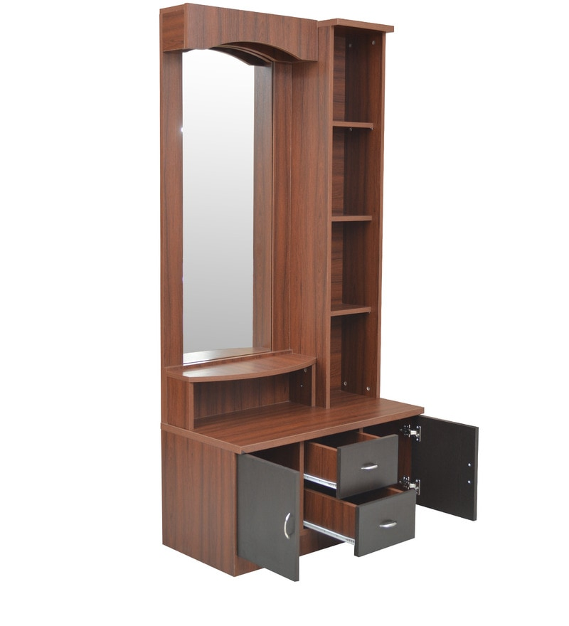 Buy regent dressing table in wenge finish by crystal furnitech online dressing tables - Dressing wenge ...