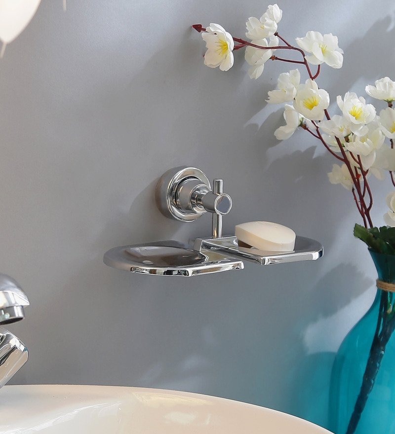 Regis Double Bathroom Soap Dish / Soap Holder - Stainless Steel - Perry Series