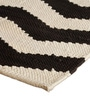 The Rug Republic Ivory and Black Cotton 91 x 63 Inch Geometric Pattern Area Rug