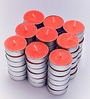 Candles Red Tea Light Candles - Set of 50 by Resonance