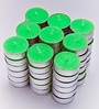 Resonance Candles Vibrant Green Tea Light Candles - Set of 50