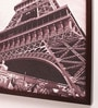 Retcomm Art Wooden 18 x 1 x 24 Inch Eiffel Tower Close Up Framed Canvas Painting