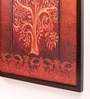 Wooden 18 x 1 x 24 Inch Golden Brown Tree Design Shade Framed Canvas Painting by Retcomm Art