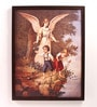 Wooden 18 x 1 x 24 Inch Kids Playing Fairy Framed Canvas Painting by Retcomm Art