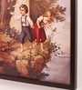 Retcomm Art Wooden 18 x 1 x 24 Inch Kids Playing Fairy Framed Canvas Painting