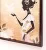 Retcomm Art Wooden 18 x 1 x 24 Inch Lady Framed Canvas Painting