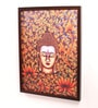 Retcomm Art Wooden 18 x 1 x 24 Inch Meditating Buddha Face Framed Canvas Painting