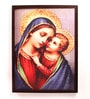 Retcomm Art Wooden 18 x 1 x 24 Inch Young Jesus with Mother Mary Framed Canvas Painting