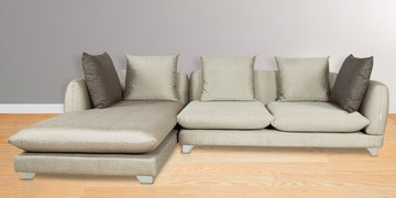 RHS Sectional Sofa in Ivory Beige Colour by Parin at pepperfry