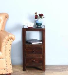 Richmond Bed Side Table In Warm Chestnut Finish