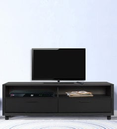 Ristretto Multipurpose TV Unit In Charcoal Black Finish By Alsapan