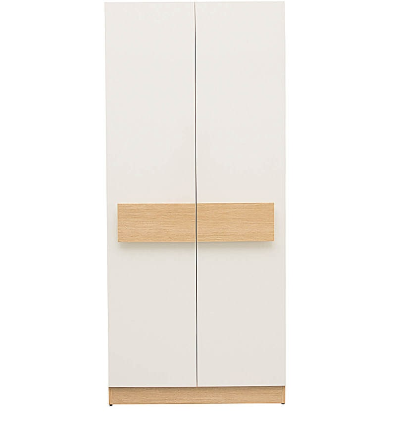 Buy Rico Two Door Marine Plywood Wardrobe In Champagne And