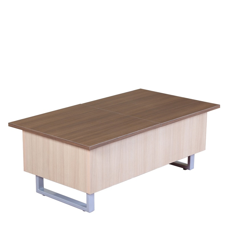 Buy Rida Double Lift Top Centre Table With Storage In Walnut Finish