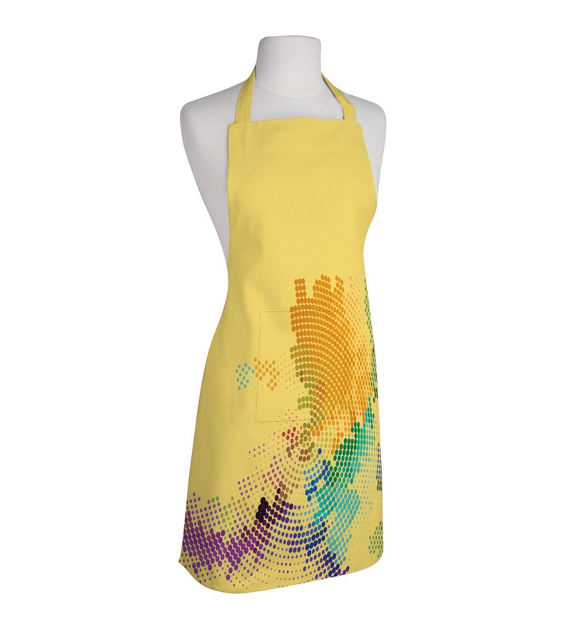 Right Yellow Polyester Free Size Apron