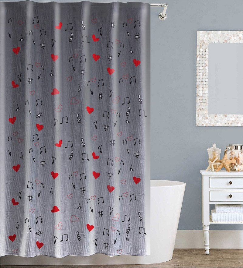 Buy Swayam Multicolour Polyester Shower Curtain Online - Shower ...