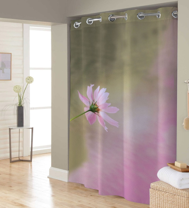 Multicolored Polyester Shower Curtain by Right