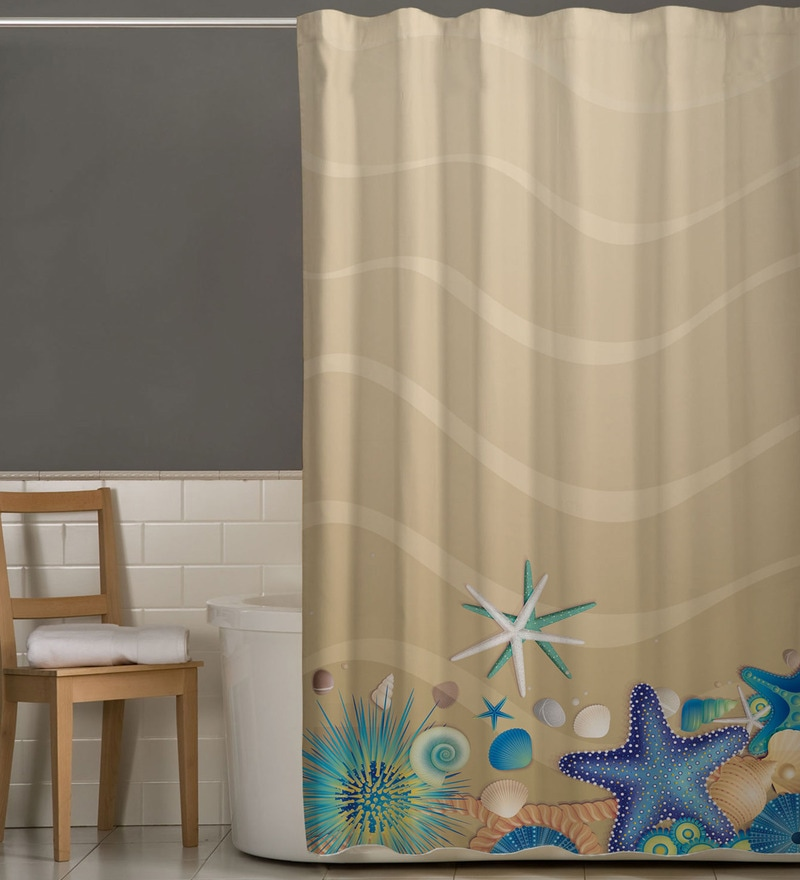 Multicolor Polyester Shower Curtain by Right