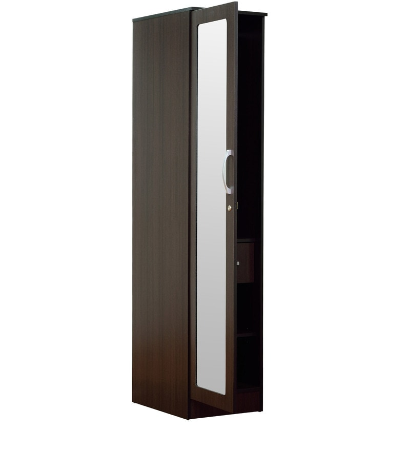 Buy Rikotu One Door Wardrobe In Wenge Finish By Mintwud